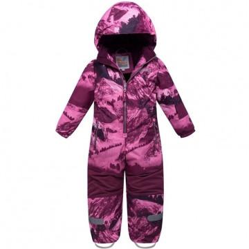 Комбинезон зимний Valianly 8907 фиолетовый