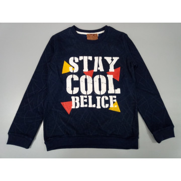 """Толстовка """"STAY COOL"""" синяя"""