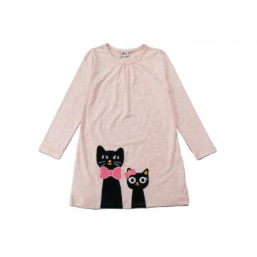 """Платье """"Кот и кошка 062"""" розовое"""