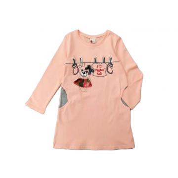 """Платье """"Мишка 594"""" персиковое"""