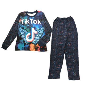 """Пижама с начесом """"Tik"""" синяя"""
