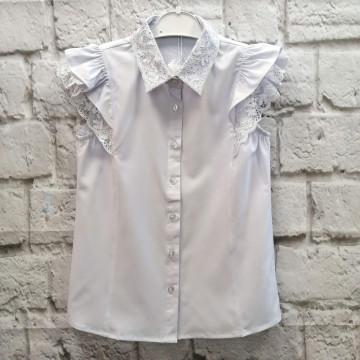 """Блузка """"7 Одёжек 662-1"""" белая"""