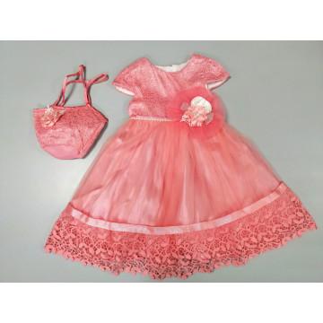 Платье Eray Kids 135 лососевое