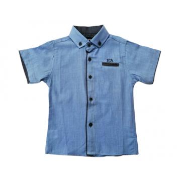 """Рубашка """"Н'А"""" голубая"""