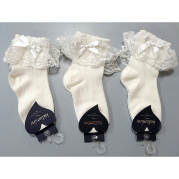 "Носки Katamino ""Оборка К22045"" молочные размер 5-6"