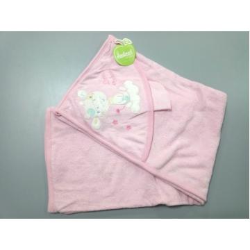 """Полотенце """"Малыш на облаке"""" розовое"""