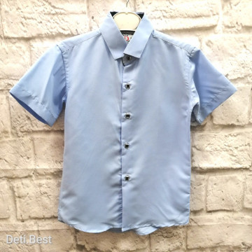 """Рубашка """"Dalmine"""" голубая"""