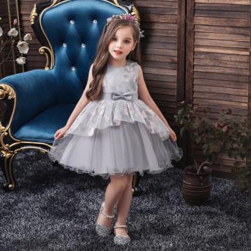 """Платье """"Принцесса"""" серое"""