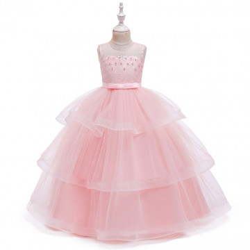 """Платье """"Цветочная нежность"""" персиковое"""