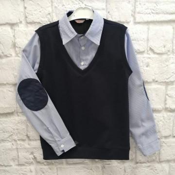 """Рубашка """"МР-02"""" тёмно-синяя"""