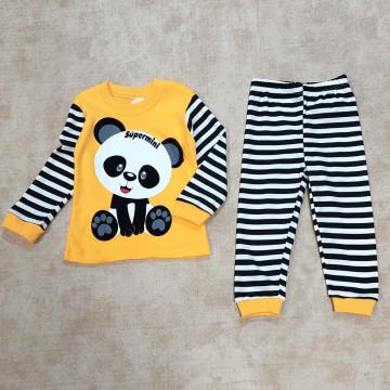 """Пижама """"Панда"""" жёлтая"""