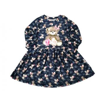 "Платье ""Мишка 4366"" тёмно-синее"