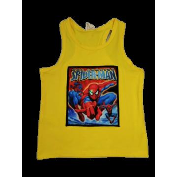 """Майка-борцовка мигающая """"Spider-men"""" жёлтая"""