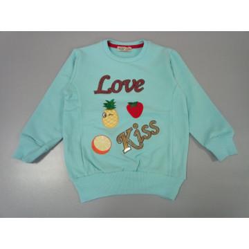 "Толстовка ""Love Kiss"" голубая"