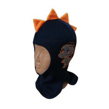 """Шапка-шлем """"Дракоша"""" темно-синяя"""