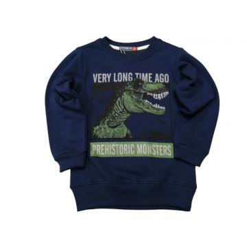 """Толстовка """"Динозавр"""" тёмно-синяя"""