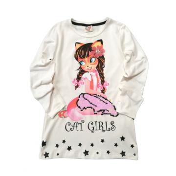 "Туника ""Cat Girls"" молочная"