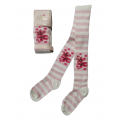 """Колготки  Belino """"Цветы 230"""" розовые"""