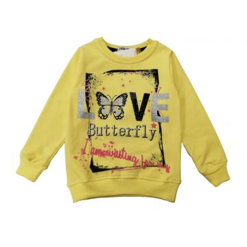 "Толстовка ""Butterfly"" жёлтая"