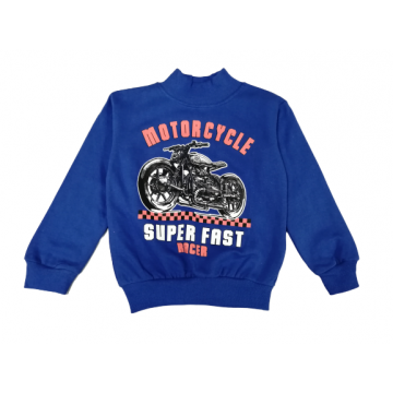 """Толстовка """"Motorcycle"""" синяя"""