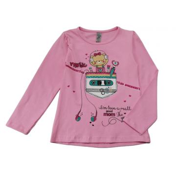 "Лонгслив ""Music Bear"" розовый"