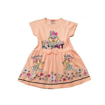 """Платье """"Rabbit"""" персиковое"""