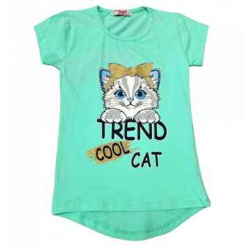"Футболка ""Trend cat"" бирюзовая"