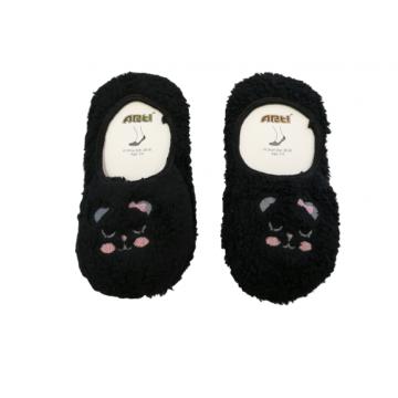 """Плюшевые носки-тапочки Arti """"850001"""" чёрные"""