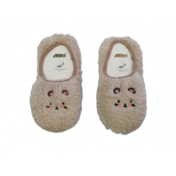 "Плюшевые носки-тапочки Arti ""850001"" бежевые"