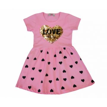 "Платье ""Love you"" розовое"