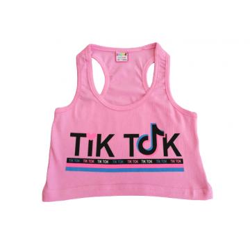 """Топ-борцовка """"Tik tok"""" розовый"""