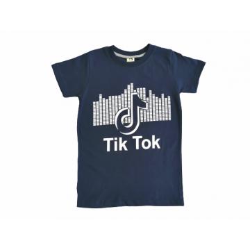 """Футболка """"TiK"""" темно-синяя"""