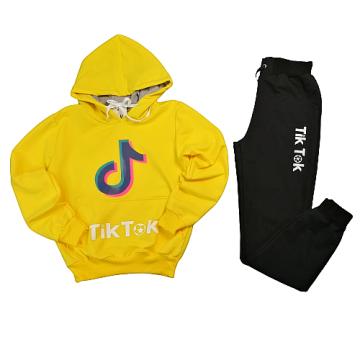 """Костюм """"TikT"""" желтый"""