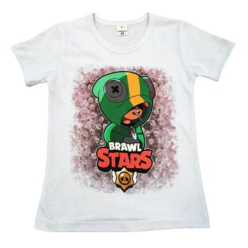 """Футболка """"B. STARS 1"""" белая"""