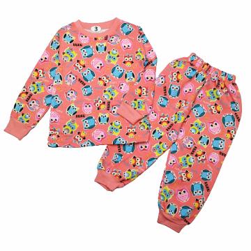 """Пижама с начесом """"KUKU"""" персиковая"""