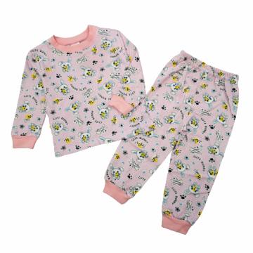 """Пижама с начесом """"BUNNY"""" розовая"""