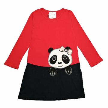 "Платье ""Панда милашка"" красное"