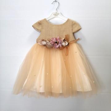 Платье Eray Kids 9018 бежевое
