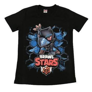"Футболка ""B. STARS 8"" черная"