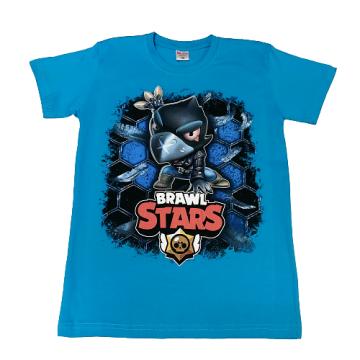"Футболка ""B. STARS 8"" голубая"