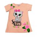 """Футболка Kipir kids """"Spring time"""" персиковая"""
