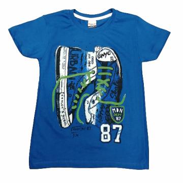 """Футболка """"87"""" синяя"""