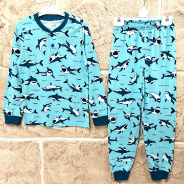 "Пижама ""Акулы"" голубая"