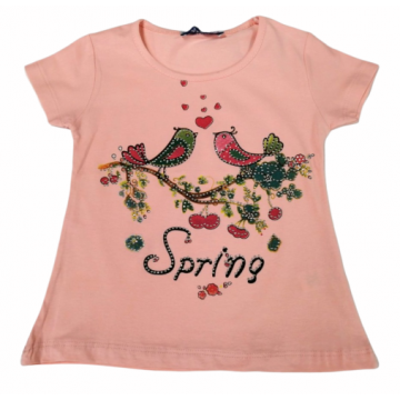 "Футболка ""Spring"" персиковая"