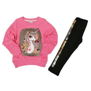 """Костюм с пайётками-перевёртышами """"Единорог 824"""" розовый"""