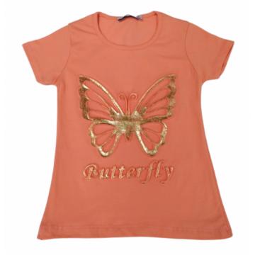 "Футболка ""Gold Butterfly"" персиковая"