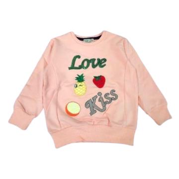 "Толстовка ""Love Kiss"" персиковая"