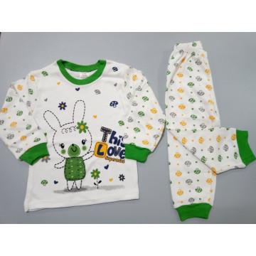 """Пижама """"Зайка"""" зеленая"""