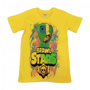 """Футболка """"B. STARS 14"""" желтая"""