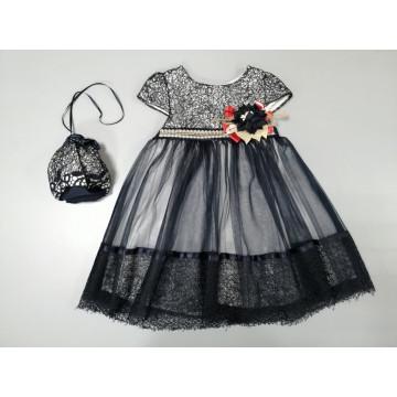 Платье Eray Kids 130 тёмно-синее